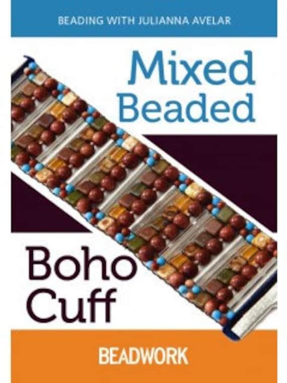 Beadalon Jewel Loom How to Beading Video Jewel Loom Mixed Media Boho Cuff by Julianna Avelar