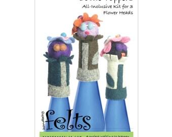 HandBEHG Felts - FLOWER HEADS Bottle Toppers Kit
