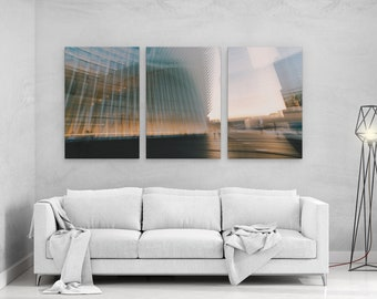 9/11 Memorial Station Long Exposure - panels art canvas print wall home decor interior design