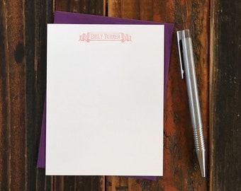 Custom Letterpress Notecards - Motto
