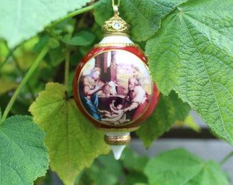 Set of three gorgeous ceramic Christmas ornaments