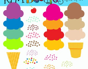 KPM Rainbow Build your own Icecream Cones