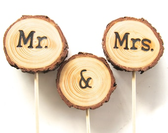 Wood Wedding Cake Topper | Country Rustic | Personalized
