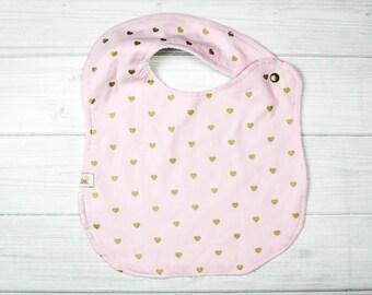 Baby Pink -Baby Pink Bib- Baby Bib - Gift for Baby Girl- Baby Shower Gift - Designer Baby Bib- Toddler Bib - Drool Bib -PINK BABY BIB