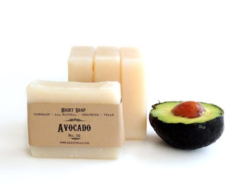 Avocado Soap - Natural Soap - Handmade Soap - Vegan Soap - Moisturizing Soap - Cold process Soap - Soap - Organic Soap - Unscented Soap