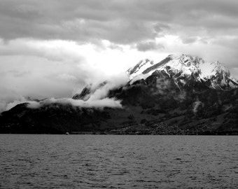 Swiss Mountains in Black and White