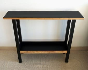 serving Cabinet wood and black