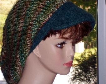 Pattern Newsboy Hat Knit