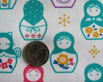 MATRYOSHKA Dolls Fabric 1FQ Japan