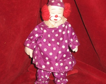Vintage Ceramic Clown Figurine