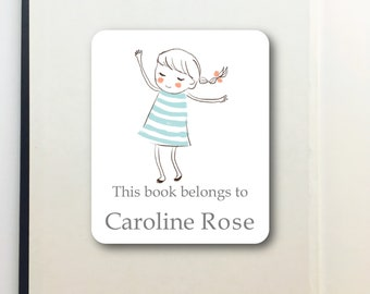 Bookplate Sticker- Peel and Stick- Bookplate- Labels
