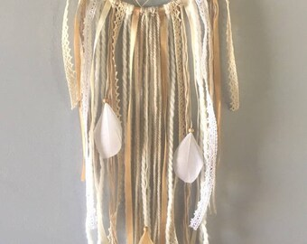 Dream catcher /Dream catcher romantic white, beige, ivory