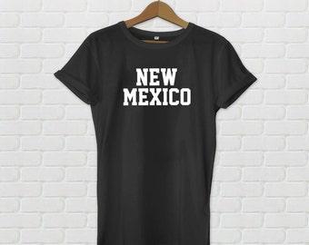 New Mexico Varsity Style T-Shirt - Black