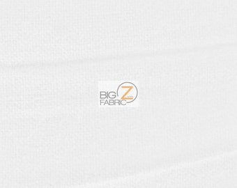 """Solid Flannel Fabric - WHITE - 60"""" Width Sold By The Yard Baby Soft"""