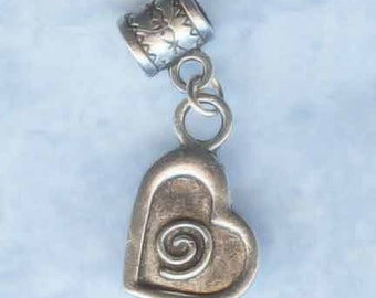 Selection of Spiral Charms, Lr Hole Beads, European Beads, BHB, Big Hole Beads, Add a Bead, Bracelet Beads, Bracelet Charms, Charm Beads