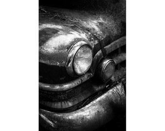 Verlassenen Auto Print - alte Automobil Fine Art Fotografie - Oldtimer-Kunst - Mann Höhle Dekor - dunkle Fotografie - Geschenk für ihn