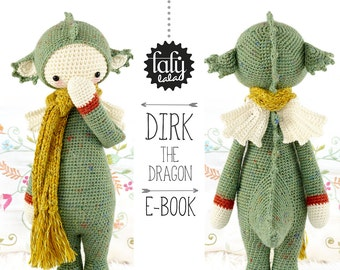 DIRK the dragon / dinosaur • lalylala crochet pattern / amigurumi