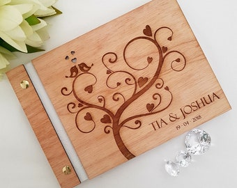Wooden Wedding Guest Book A5 A4