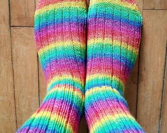 Socks - rainbow brite pride socks