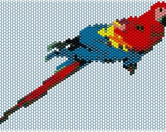 Peyote pattern for Parrot