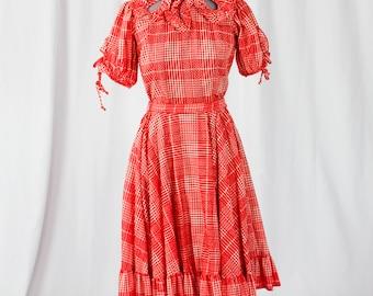 60s Western Square dance Dress