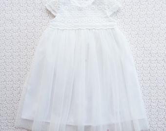 MAGNOLIA - Flower Girl Dress, Christening Gown, Girls Party Dress