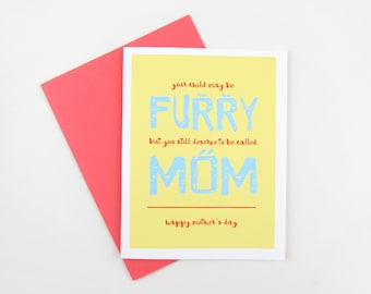Furry Child: Mother's Day Card