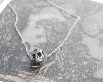 Skull Necklace , skull pendant , skull jewelry