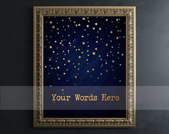 Custom Quote Print - Custom Gold Foil Print - Custom Word Art, Personalized Gift Real Foil Print, Gold Foil Print Custom Foil Print AKAFOILS