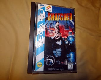 Sega CD Snatcher reprinted manual and case insert
