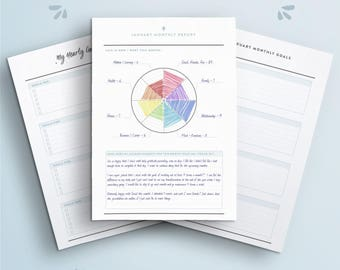 Monthly Goals Report. Yearly Goals Setting. Monthly Tracking Inserts. Project Life Mastery. Success Planner. Wellness Planner. Printable