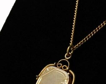 Antique Victorian Locket Pendant Necklace Watch Fob