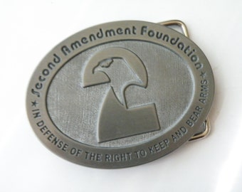 On Sale Belt Buckle Second Amendment Foundation - Defense of Right to keep and bear arms. BOX