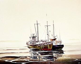 John Lutes Ebb Tide 1977 Original Lithograph