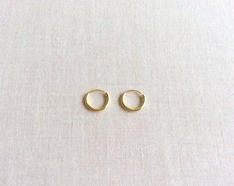 10mm Solid 14k Gold Hoop Earrings, 14k Hoop Earrings,14k Gold Earrings, Gold Hoop Earrings Small Gold Hoops Earrings,Tiny Gold Hoops HE14K10