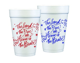 Foam Cups | 4th of July (red & blue)