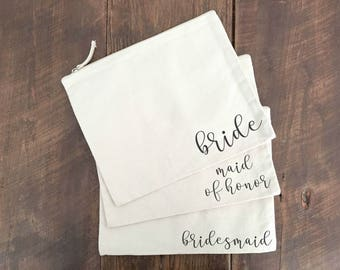 Bridal Party Makeup Bags FREE SHIPPING