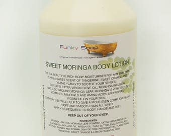 1 bottle Sweet Moringa Body Lotion, Natural healthy and Handmade, Approx 250g