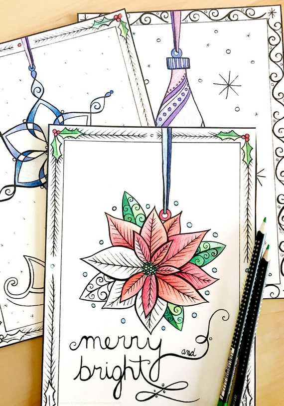 Christmas Tree Ornaments Advent Calendar Coloring Pages