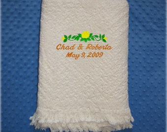 Personalized  Wedding Blanket - Anniversary Blanket - Wedding Throw - Anniversary Throw - Wedding Gift - Anniversary Gift - Housewarming