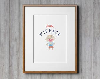 Boys Room Decor, Printable Wall Art, Wall Art, Nursery Decor, Hand Drawn, Kids Illustration, Nursery Accessories, Little Boy, Boys Wall Art