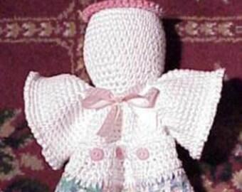 CROCHET PATTERN KITCHEN Easy Angel Towel Holder Beginner