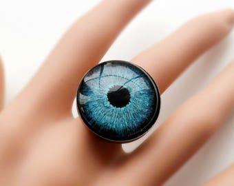 Blue Eye Adjustable Ring