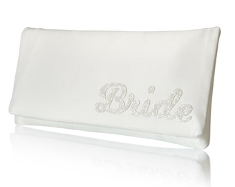 BRIDE wedding day bridal clutch purse