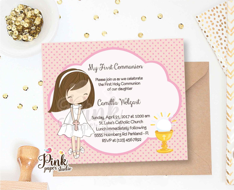 First holy communion invitation communion invitation 1st zoom kristyandbryce Choice Image