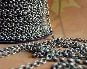 James Starley - 10 Foot - Steampunk - Rustic - Antique Bronze Cross Chain