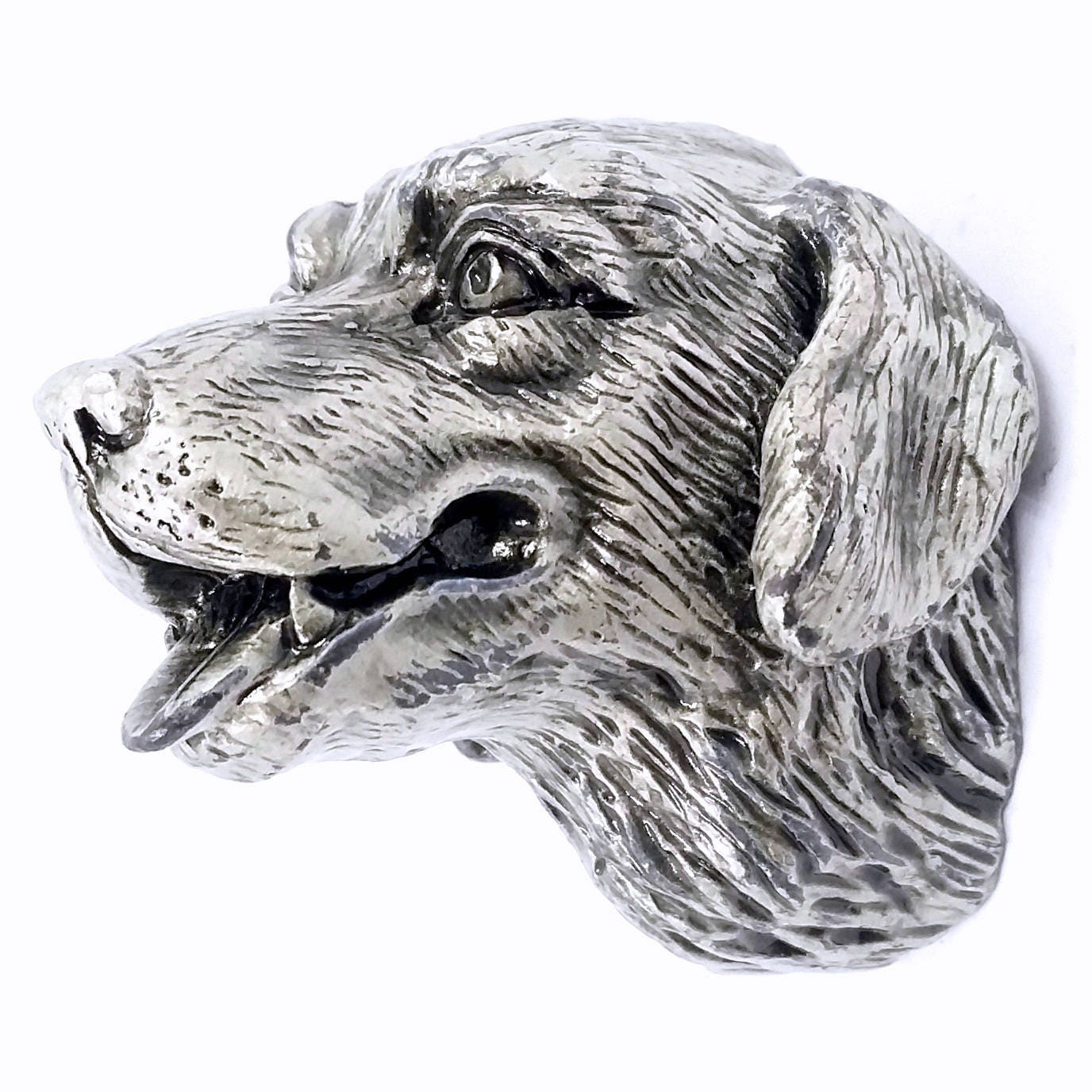 Hunde Knäufe Griffe / Knauf / Tier Antik Silber / Türgriffe