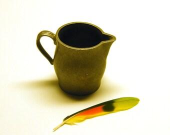 Vintage Handmade Pewter Creamer Vessel
