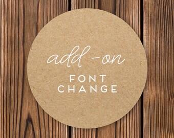 ADD-ON | Font Change