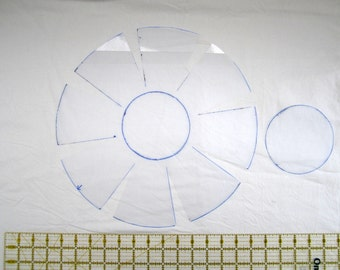 Template for medium fabric bowl